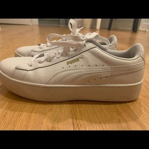 Puma white shoes sneakers